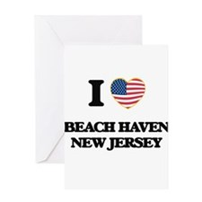 I love Beach Haven New Jersey Greeting Cards