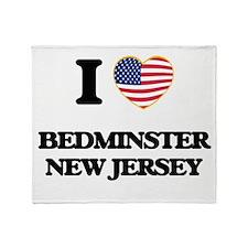 I love Bedminster New Jersey Throw Blanket