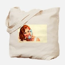 On the phone ! Tote Bag