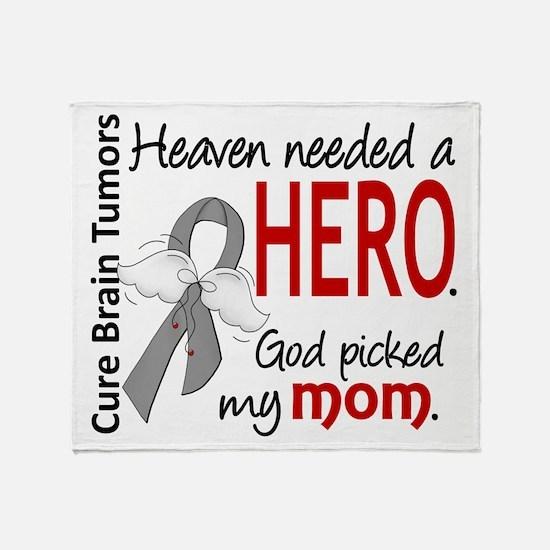 Brain Tumor HeavenNeededHero1 Throw Blanket