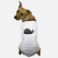 Distressed Snail Silhouette Dog T-Shirt