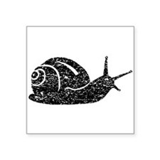 Distressed Snail Silhouette Sticker
