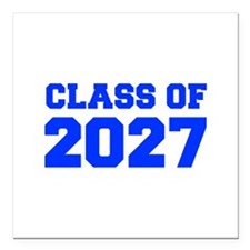 """CLASS OF 2027-Fre blue 300 Square Car Magnet 3"""" x"""