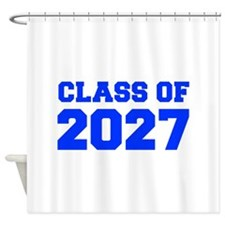 CLASS OF 2027-Fre blue 300 Shower Curtain