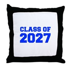 CLASS OF 2027-Fre blue 300 Throw Pillow