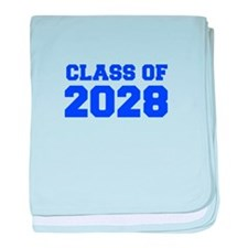 CLASS OF 2028-Fre blue 300 baby blanket