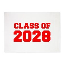 CLASS OF 2028-Fre red 300 5'x7'Area Rug