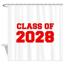 CLASS OF 2028-Fre red 300 Shower Curtain
