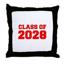 CLASS OF 2028-Fre red 300 Throw Pillow