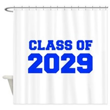 CLASS OF 2029-Fre blue 300 Shower Curtain