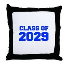 CLASS OF 2029-Fre blue 300 Throw Pillow