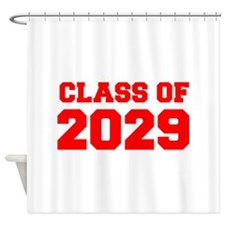 CLASS OF 2029-Fre red 300 Shower Curtain
