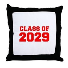 CLASS OF 2029-Fre red 300 Throw Pillow
