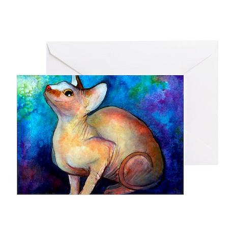 SPHYNX CAT 5 Greeting Cards (Pk of 10)