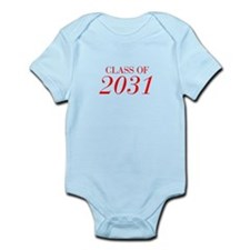 CLASS OF 2031-Bau red 501 Body Suit