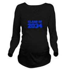 CLASS OF 2034-Fre blue 300 Long Sleeve Maternity T