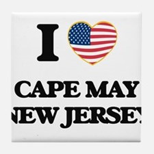 I love Cape May New Jersey Tile Coaster