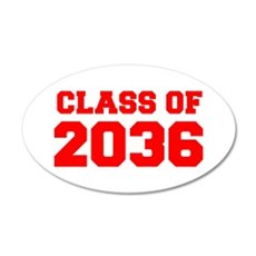 CLASS OF 2036-Fre red 300 Wall Decal