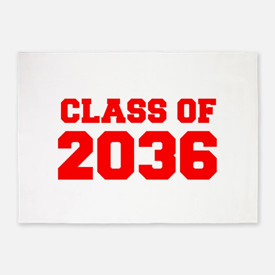 CLASS OF 2036-Fre red 300 5'x7'Area Rug