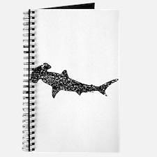 Distressed Hammerhead Shark Silhouette Journal