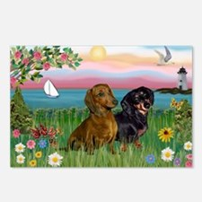 Shore & Dachshund Pair Postcards (Package of 8)