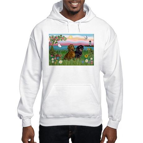 Shore & Dachshund Pair Hooded Sweatshirt