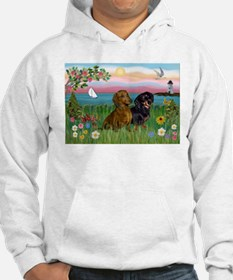 Shore & Dachshund Pair Jumper Hoody
