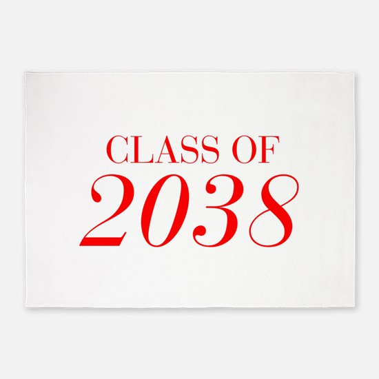 CLASS OF 2038-Bau red 501 5'x7'Area Rug