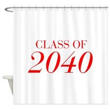 CLASS OF 2040-Bau red 501 Shower Curtain
