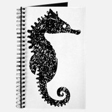 Distressed Seahorse Silhouette Journal