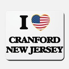 I love Cranford New Jersey Mousepad
