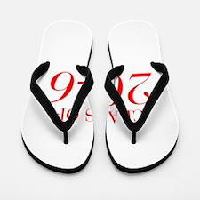 CLASS OF 2046-Bau red 501 Flip Flops