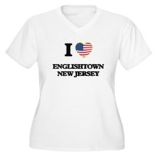 I love Englishtown New Jersey Plus Size T-Shirt