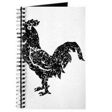 Distressed Rooster Silhouette Journal