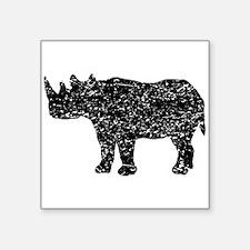 Distressed Rhinoceros Silhouette Sticker