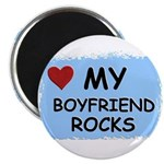 MY BOYFRIEND ROCKS Magnet
