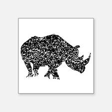 Distressed Rhino Silhouette Sticker