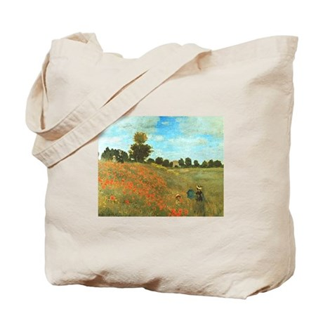 Poppies by Monet Tote Bag