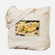 Dog in the Snow Tote Bag