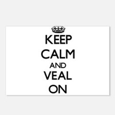 Keep Calm and Veal ON Postcards (Package of 8)