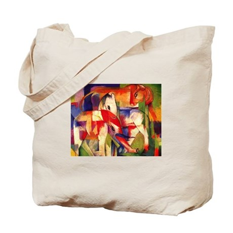 Elephant Horse Cow by Franz Marc Tote Bag