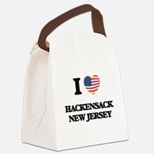 I love Hackensack New Jersey Canvas Lunch Bag