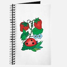 Ladybugs & Strawberry Design Journal