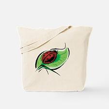 Ladybug on a Leaf Tote Bag