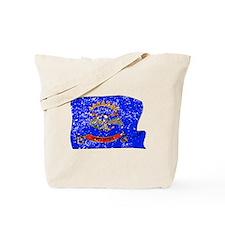 North Dakota State Flag (Distressed) Tote Bag