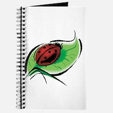 Ladybug on a Leaf Journal