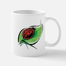 Ladybug on a Leaf Mug