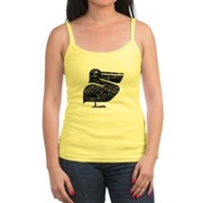 Distressed Pelican Silhouette Tank Top