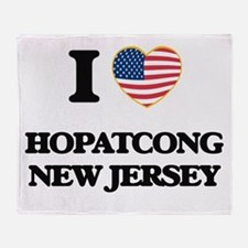 I love Hopatcong New Jersey Throw Blanket