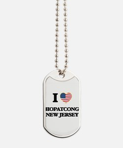 I love Hopatcong New Jersey Dog Tags